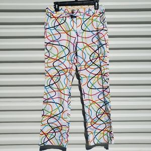 Loudmouth Golf Scribblz rainbow striped pants